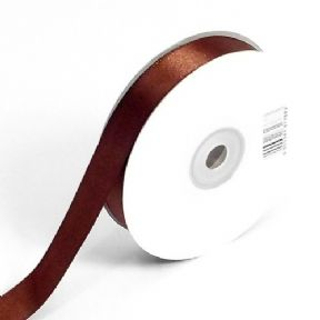 Brown Double Faced Satin Ribbon. 3mm x 50meters Per Reel